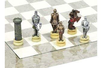 Mediaeval Hand Painted Chessmen