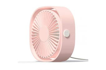 (Pink) - Simpeak Mini Usb Desk Fan Cooling quiet portable Pink USB Powered ONLY (No Battery), 3 Speed Setting 360° Adjustable Swivel for Home and Travel
