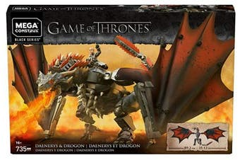 (Daenerys & Drogon) - Game of Thrones Mega Construx Daenerys & Drogon