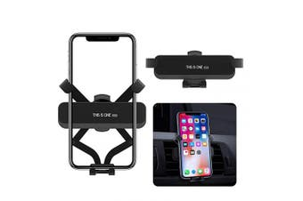 (Black) - Car Phone Holder, ORYCOOL Auto-Retractable Mini Car Phone Mount, 360 Degree Rotation Gravity Car Air Vent Stand Mount Compatible iPhone Samsung and Android Smartphones from 10cm - 17cm (Black)