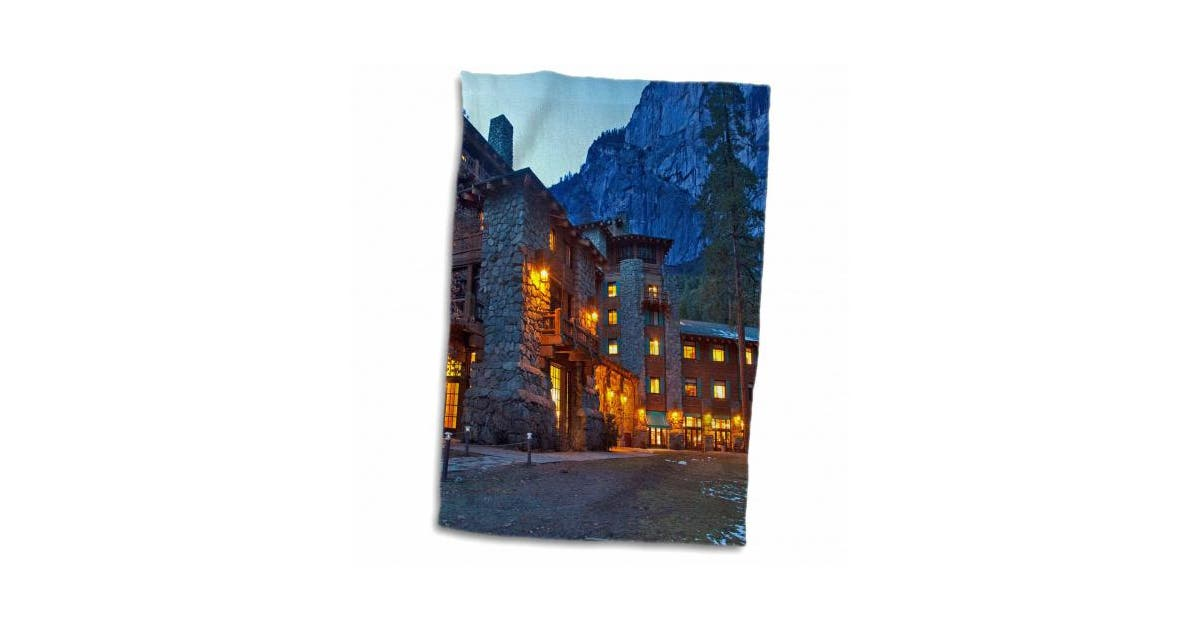 3drose Ahwahnee Lodge Yosemite Np California Usa Us05 Cha0115 Chuck Haney Towel 38cm By 60cm Matt Blatt