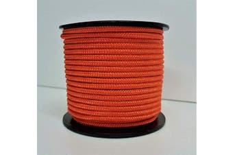 (ORANGE) - Rota Marine 3mm 19Mt Mini Reels Polyester Braided Rope Boat Tent Kayak Mini Spools