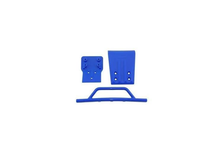 RPM RPM80025 Front Bumper and Skid Plate for Traxxas Slash 4 x 4 - Blue