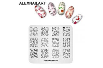 (CH004) - Alexnailart Nail Art Stamping Plate Template Christmas theme Candy Crystal ball Gingerbread man Gift Pattern DIY Nail Art Image Stamp Stamping Plates Manicure Print Tool