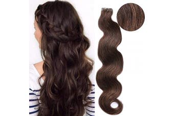 Body Wave Hair Extensions Tape in Dark Brown 100% Remy Human Hair Extensions 50cm Hair Wavy Tape in Natural Hair Extensions 50g 20pcs