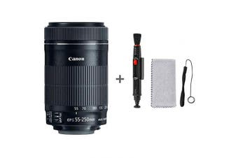 Canon 55-250mm f/4-5.6 55-250 mm IS STM Lens,black + Cleaning Kit(Lens cloth,Lens pen) & Anti-loss rope