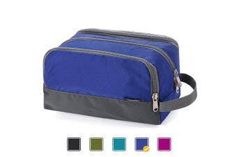 (A-Royal Blue) - Toiletry Bag Small Nylon Dopp Kit Lightweight Shaving Bag for Men and Women (Royal Blue)
