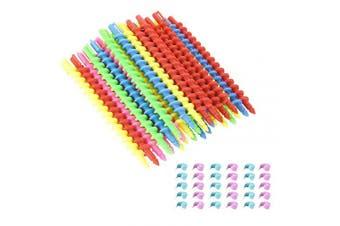 Beautyflier Styling Plastic Spiral Hair Perm Rod Random Colours (Medium (30 PCS))