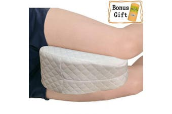 (White-neu) - Big Ant Knee Pillow, Best for Lower Leg, Back, and Knee Pain- Leg Pillow Memory Foam Wedge Contour Leg Pillow with Washable Cover