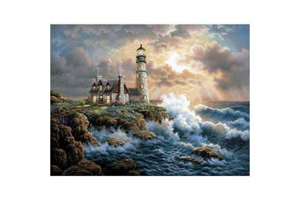(30*40, Lighthouse) - Diamond Painting Kits for Adults Kids, 5D DIY Lighthouse Diamond Art Accessories with Round Full Drill Dotz for Home Wall Decor - 11.8×40cm