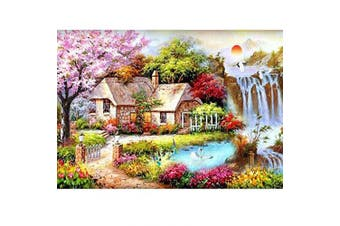(40*30, House) - Diamond Painting Kits for Adults Kids, 5D DIY House Diamond Art Accessories with Round Full Drill Dotz for Home Wall Decor - 15.7×30cm