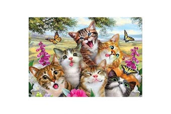 (40*30, Cat) - Diamond Painting Kits for Adults Kids, 5D DIY Cat & Butterfly Diamond Art Accessories with Round Full Drill Dotz for Home Wall Decor - 15.7×30cm