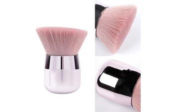 ENERGY Pink Kabuki Powder Blush Brush Portable Mineral Finish Angled Foundation Brush Large