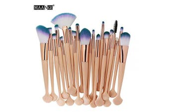 Makeup Brush Set,Multi-function Makeup Brushes Set,20pcs Professional Shell Makeup Brushes Set Cosmetic Foundation Brush Powder Brush Eyeshadow Brush Beauty Tools(2#)