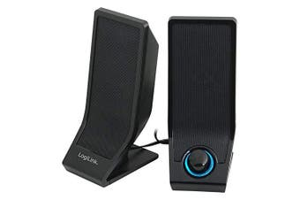 LogiLink SP0027 LogiLink USB 2.0 Stereo Active Speaker with Volume Control. Black