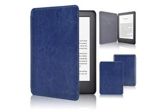 (FIT NEW KINDLE 10TH GENERATION 2019 RELEASE ONLY, Navy Blue1) - ACdream Case Fits All-New Kindle 10th Genetation 2019 Release, the Thinnest and Lightest Premium PU Leather Cover Case for Kindle 10th Generation 2019 with Auto Wake Sleep Feather, Navy Blue