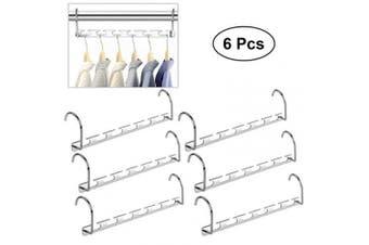 (6 Pcs) - EDATOFLY 6pcs Magic Clothes Hanger Wonder Hangers Wardrobe Closet Hanging Hooks Metal Coat Clothing Organiser