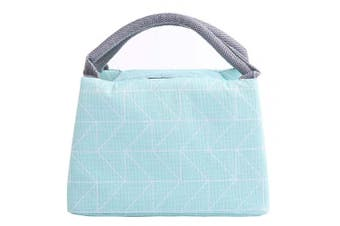 (Light Blue) - Insulated Thermal Lunch Bag, Picaru Cooler Bag Oxford Lunch Tote Reusable Waterproof Lunch Bag with Metal Straws for Women Kids,9.1×5.9×6.3 inches / 23×15×16 cm (Sky Blue))