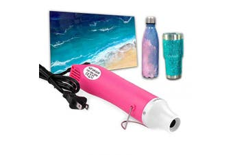 (pink) - Bubble Removing Tool for Epoxy Resin and Acrylic Art, DIY Glitter Tumblers, Specially-Designed Heat Gun for Making Acrylic Resin Travel Mugs Tumblers to Remove Air Bubbles (Pink)