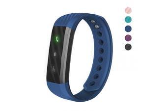 (Blue) - 007plus Fitness Tracker, ID115 Lite Smart Bracelet Sleep Monitor Pedometer Activity Tracker