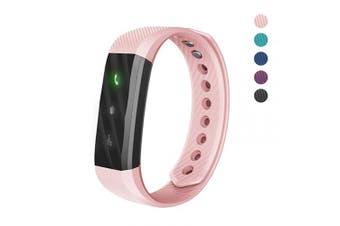 (Pink) - 007plus Fitness Tracker, ID115 Lite Smart Bracelet Sleep Monitor Pedometer Activity Tracker