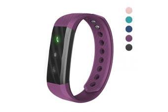(Purple) - 007plus Fitness Tracker, ID115 Lite Smart Bracelet Sleep Monitor Pedometer Activity Tracker