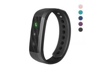 (Black) - 007plus Fitness Tracker, ID115 Lite Smart Bracelet Sleep Monitor Pedometer Activity Tracker
