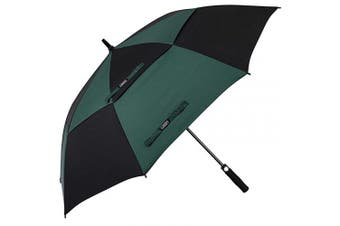 (140cm , 16.Black/Dark Green) - G4Free 54/2.3cm Automatic Open Golf Umbrella Extra Large Oversize Double Canopy Vented Windproof Waterproof Stick Umbrellas