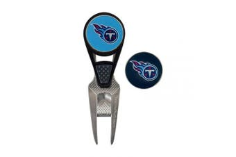 (Tennessee Titans) - NFL CVX Ball Mark Repair Tool & 2 Ball Markers