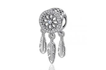(Cosmos Centrepiece) - Womens s925 Sterling Silver Beads Charms, Spiritual Dream Catcher Pendant Charms fit for Charm Bracelets & Chain Necklaces, Fine Jewellery by CELESTIA, Fancy Gifts for Her