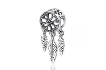 (Celtic Knot Centrepiece) - Womens s925 Sterling Silver Beads Charms, Spiritual Dream Catcher Pendant Charms fit for Charm Bracelets & Chain Necklaces, Fine Jewellery by CELESTIA, Fancy Gifts for Her