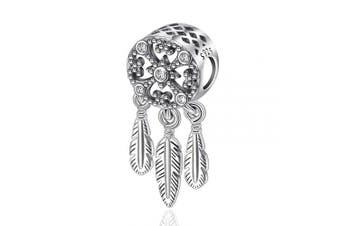 (Iris Centrepiece) - Womens s925 Sterling Silver Beads Charms, Spiritual Dream Catcher Pendant Charms fit for Charm Bracelets & Chain Necklaces, Fine Jewellery by CELESTIA, Fancy Gifts for Her