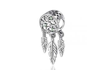 (Tree of Life Centrepiece) - Womens s925 Sterling Silver Beads Charms, Spiritual Dream Catcher Pendant Charms fit for Charm Bracelets & Chain Necklaces, Fine Jewellery by CELESTIA, Fancy Gifts for Her