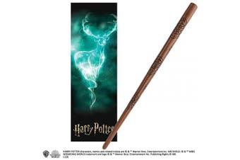 The Noble Collection James Potter 30cm PVC Wand with Prismatic Bookmark...