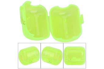 (Medium) - 50 Pcs Plastic Fishing Hook Box Tackle Box Clamshell Fluorescent Yellow Squid Lure Hook Box Cover Case Fishing Accessory