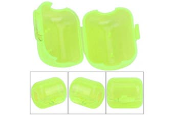 (Small) - 50 Pcs Plastic Fishing Hook Box Tackle Box Clamshell Fluorescent Yellow Squid Lure Hook Box Cover Case Fishing Accessory