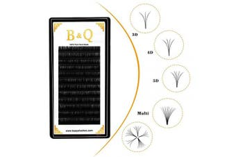 (C-0.03, 14 mm) - Volume Lash Extensions Easy Fan Lashes C/D Curl Flowering Lashes 0.03-0.10mm Automatic Fan Blooming Flower Eyelashes (C-0.03, 14 mm)