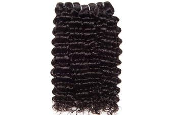 (16 18 20INCH) - CLAROLAIR Unprocessed Brazilian Virgin Hair Extensions Real Hair Weft Brazilian Curly Human Hair Weave Brazilian Deep Curly Hair virgin brazilian hair One Bundle(16 18 50cm )