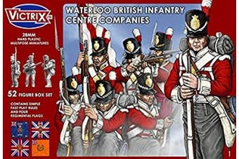 Victrix 28mm Waterloo British Infantry Centre Companies (52)