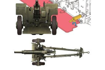 WWII Late Version 105MM Howitzer M2A1 & Carriage M2A2 1-35 AFV Club