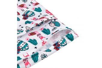 (Medium, cactus and flowers) - Babygoal Wet Dry Bags for Baby Cloth Nappies, Washable Travel Bags, Beach, Pool, Gym Bag for Swimsuits & Wet Clothes with Two Zippered Pockets 3 Pack 3LN07