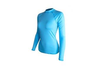 (XX-Large, Light Blue) - ALLEZ Women's Long Sleeve Rash Guard Athletic Tops Swimwear UPF 50+ Sun Protection Swim Shirts