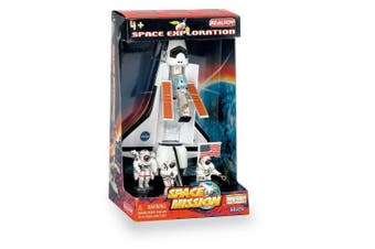 Daron Worldwide Trading RT38125 Space Shuttle 4 Piece Play Set