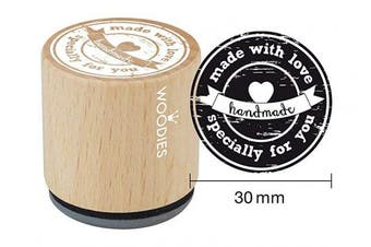 "(Specially for You) - WOODIES Love Themed Stamp ""Made With Love Specially For You"", 2.5cm - 0.5cm Impression (071777)"