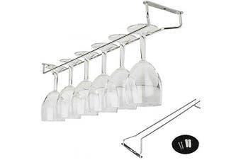 (25cm ) - Amatt Wine Glass Rack, Stainless Steel Under Cabinet Wine Rack Glass Holder Hanging Hanger Chrome Stemware Holder for Bar Kitchen (25cm )