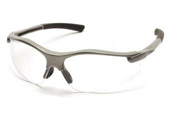 (Gray Frame/Clear Lens) - Pyramex Fortress Safety Glasses