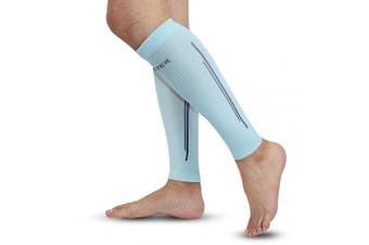 (XL, Mint Green) - Calf Compression Sleeves - BERTER Leg Compression Socks for Shin Splint Calf Pain Relief (20-25mmhg) - Men Women Calf Guard for Running, Cycling, Travel, Sport