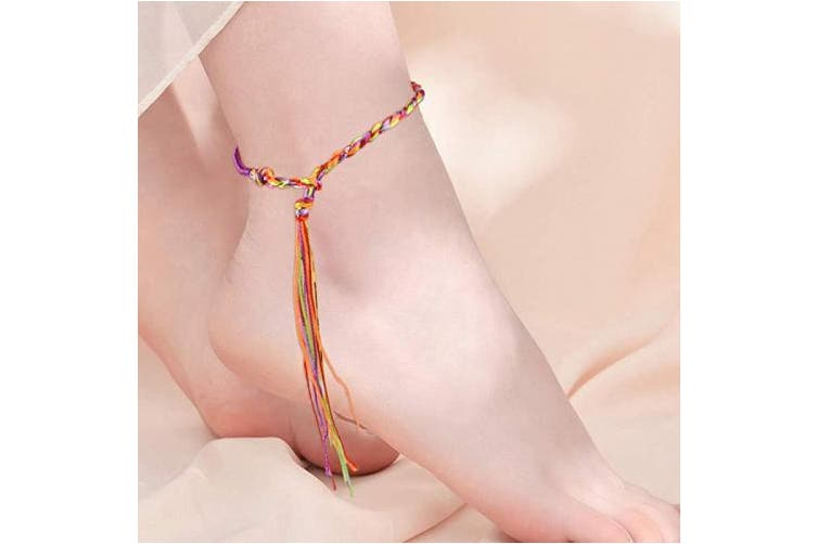 Jerbro 60pcs Braided Bracelets Colourful Handmade Friendship Armbands Wrist Ankle Bracelet for Women Girls DIY - 3 Styles