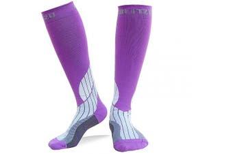 (Small/Medium, Orchid) - BLITZU Compression Socks 20-30mmHg Men Women Recovery Running Medical Athletic Edoema Diabetic Varicose Veins Travel Pregnancy Relief Shin Splints Nursing