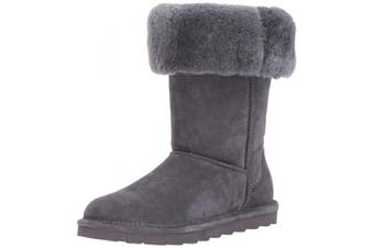 (10 UK, Grey (Charcoal 030)) - Bearpaw Women's Elle Tall Slouch Boots